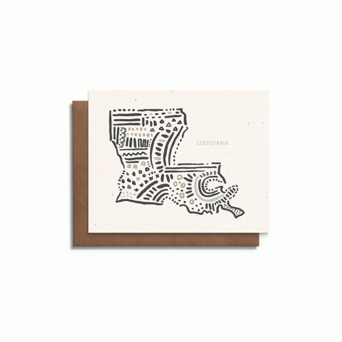 Louisiana State Greeting Card