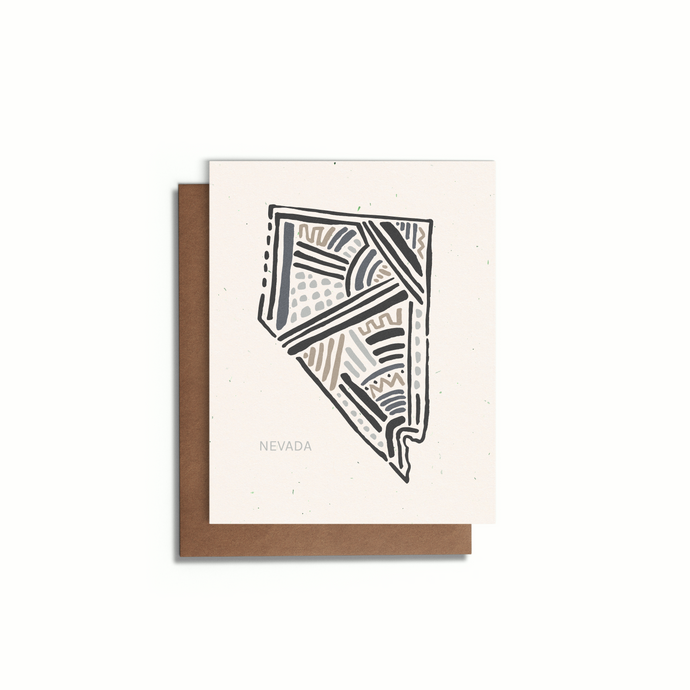 Nevada State Greeting Card | Blank A2 Card | Speckled Tone