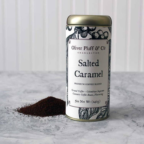 Salted Caramel Ground Coffee - Signature Coffee Tin by Oliver Pluff & Co