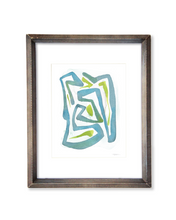 Wandering Lines - Original Watercolor Print - No.2