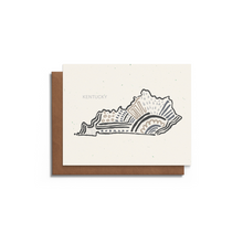 Kentucky State Greeting Card