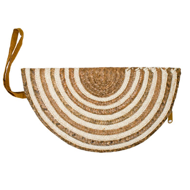 Halfmoon Clutch - Honey Stripe