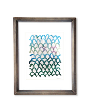 Scalloped Pattern - Watercolor Print - No.1
