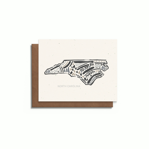 North Carolina State Greeting Card