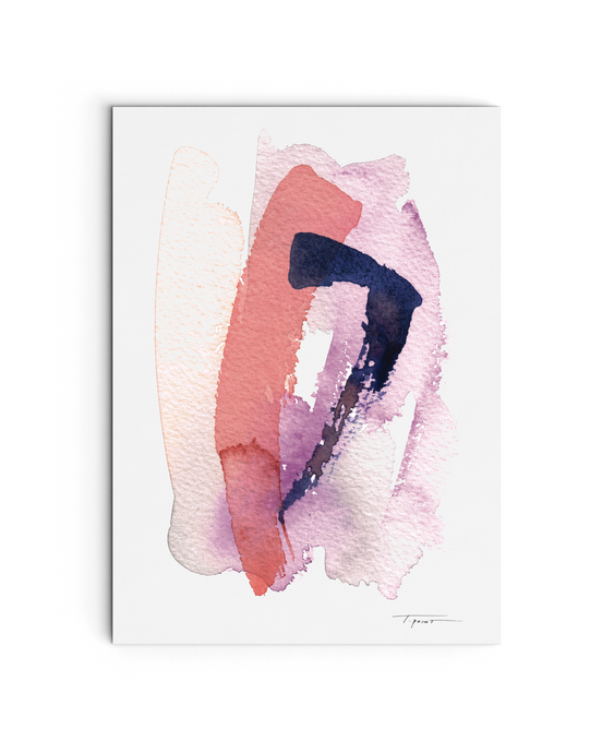 Layered Strokes - Watercolor Print - No.1