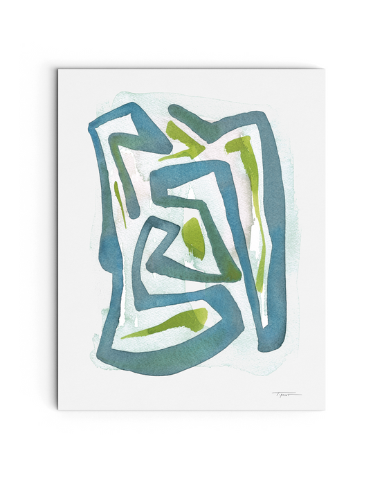 Wandering Lines - Watercolor Print - No.2