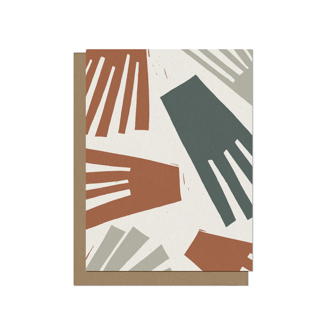 Abstract Floral Blooms Blank Card