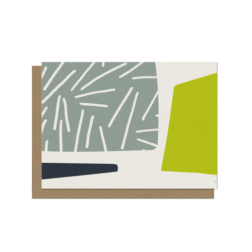 Abstract Forms with Patterns Blank Card