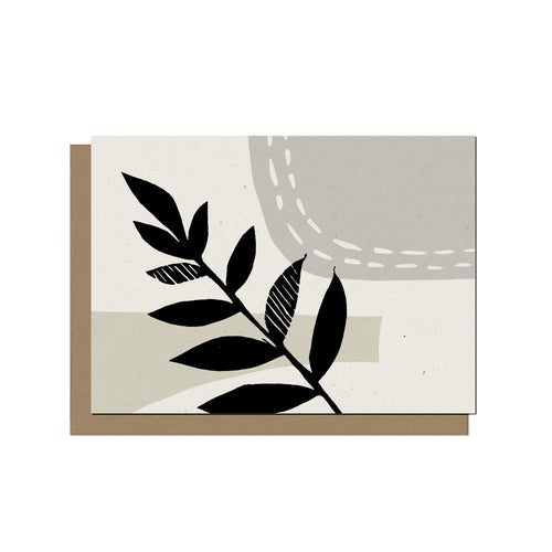 Abstract Leaf | Blank Card