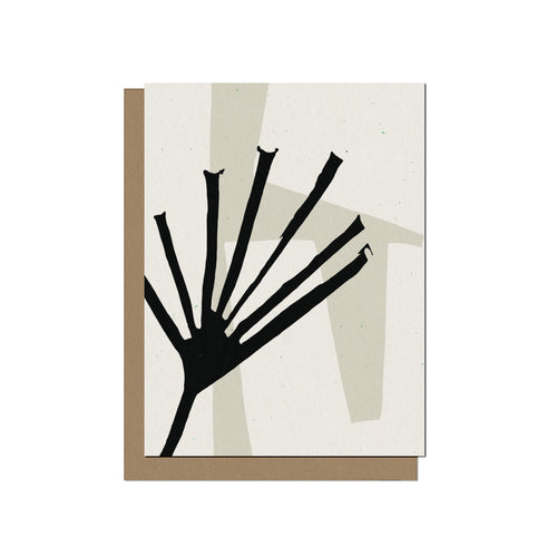 Abstract Palm Leaf | Blank Card