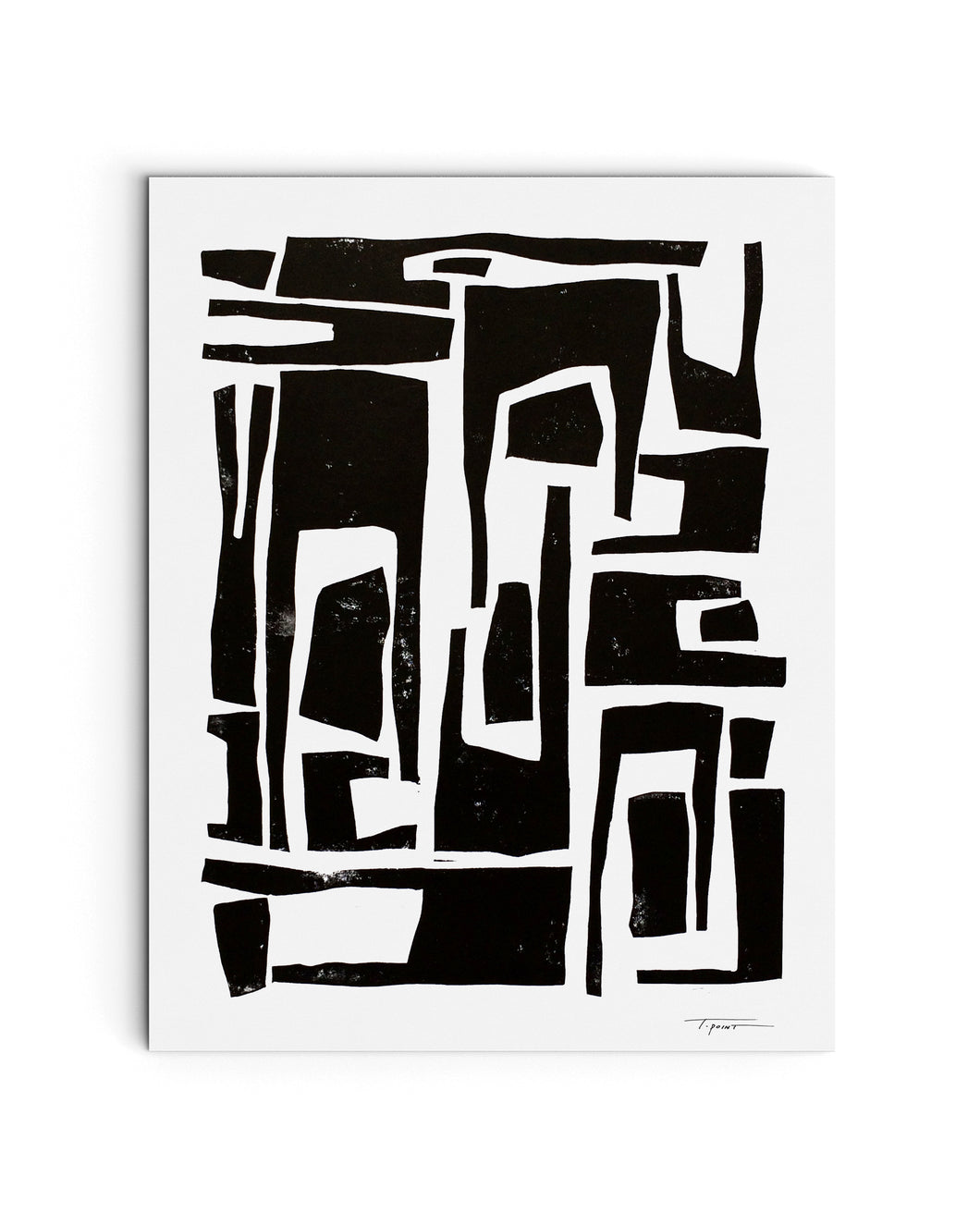 Elongated Organic and Abstract Shapes | Block Print