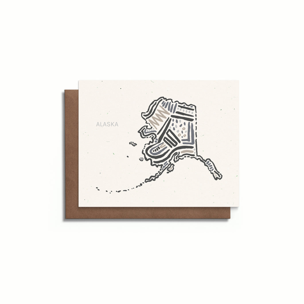 Alaska State Greeting Card