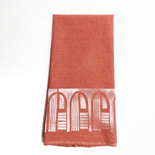 Dyed - Arches Tea Towel - Block Printed Kitchen Towel