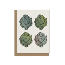 Four Artichokes - Blank Card