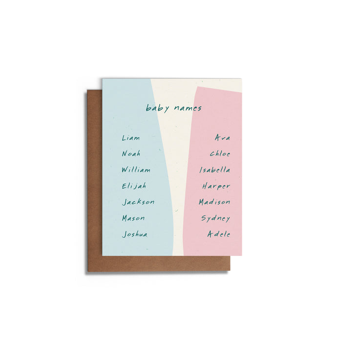 Baby Names | Baby Card
