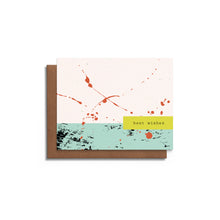Best Wishes - Modern Paint Splatters Card