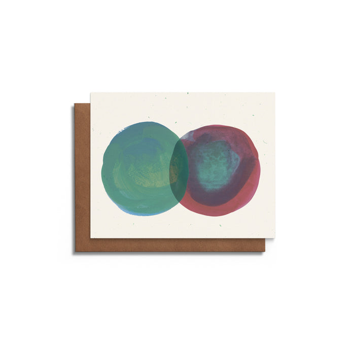 Two Circles | Blank Card