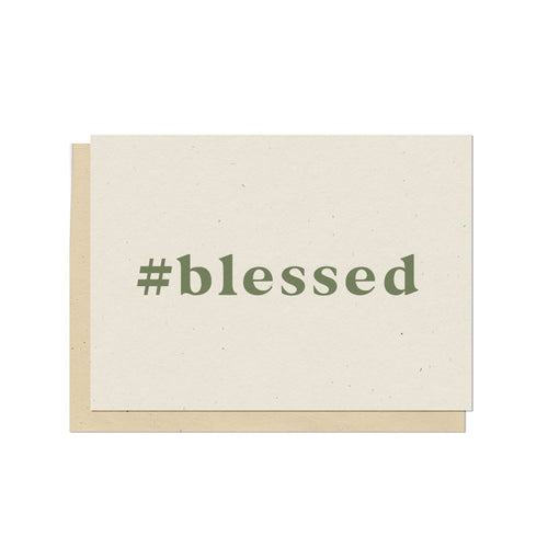 Hashtag Blessed Blank Card
