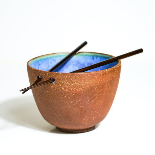 Blue Glazed Stoneware Noodle Bowls - London Clayworks