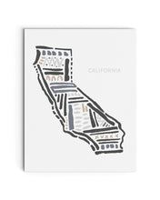 California State | Map Art Print | SI-FL