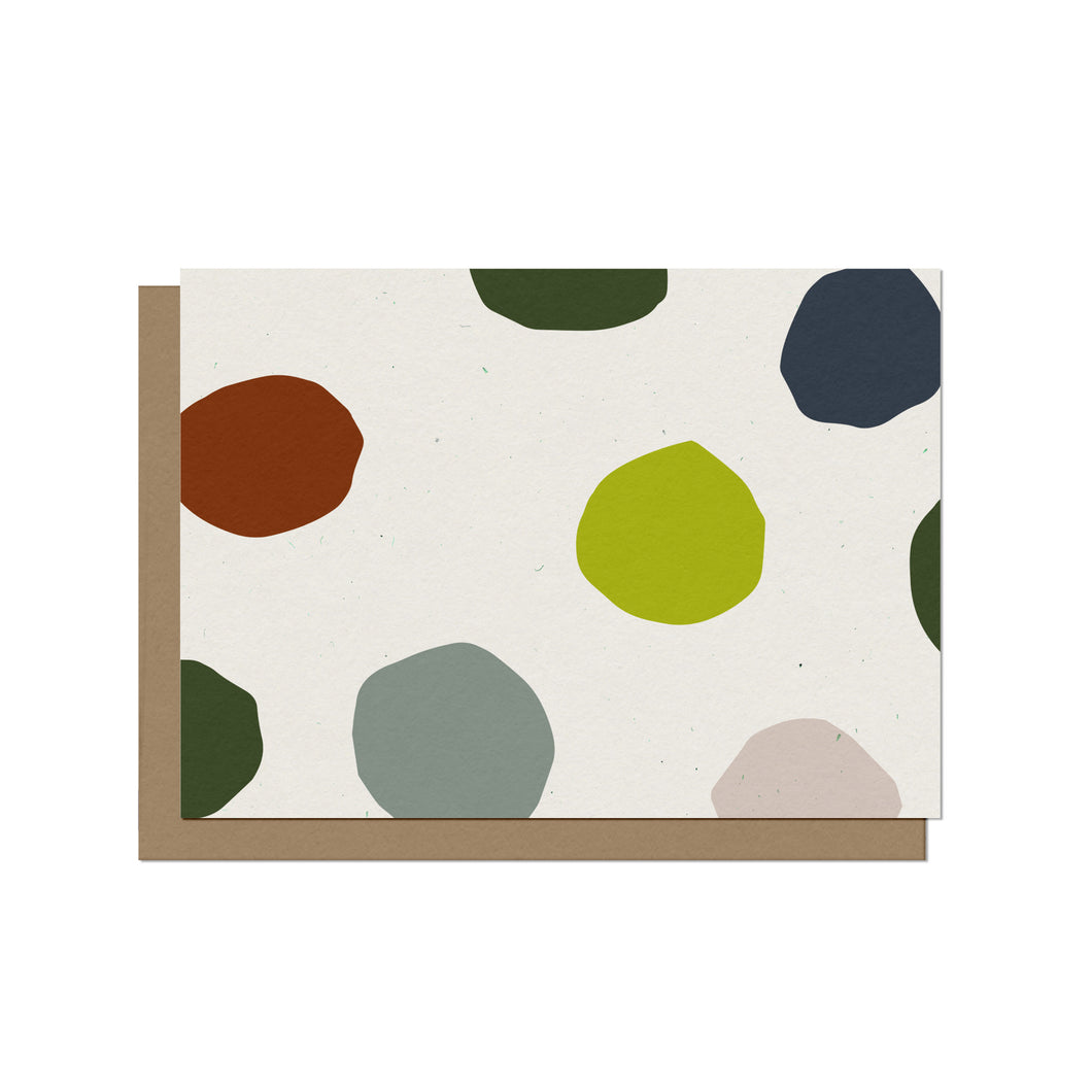 Colorful Dots Blank Card