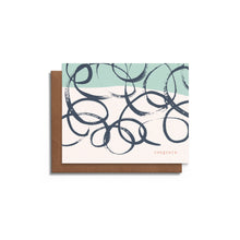 Swirls Blank Card