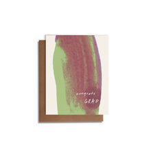 Congrats Grad Abstract Watercolor Card