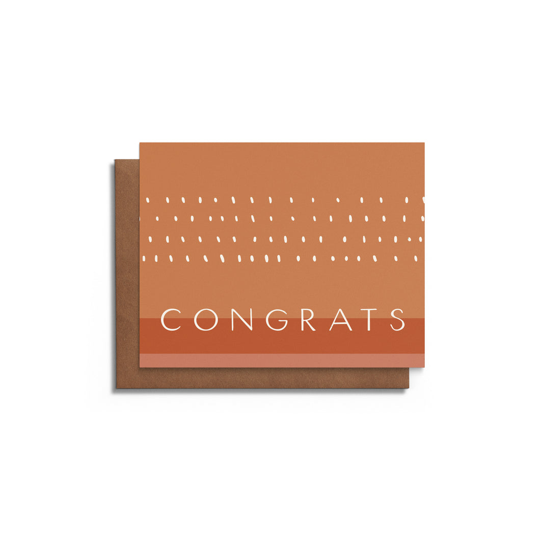 Congrats with Dots | Blank Card