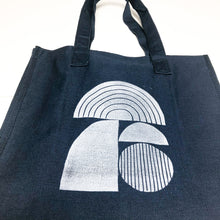 Curved Forms Navy Market Tote Bag