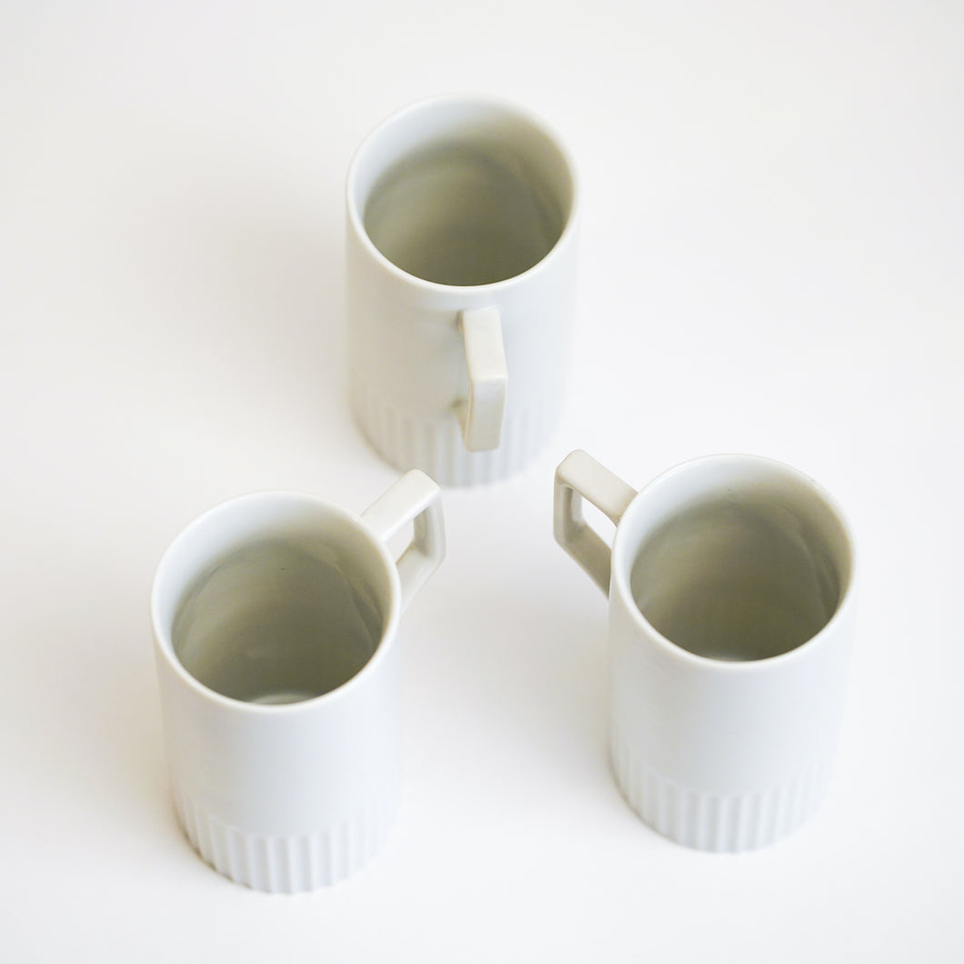 Set of 5 Vintage White Porcelain Cups