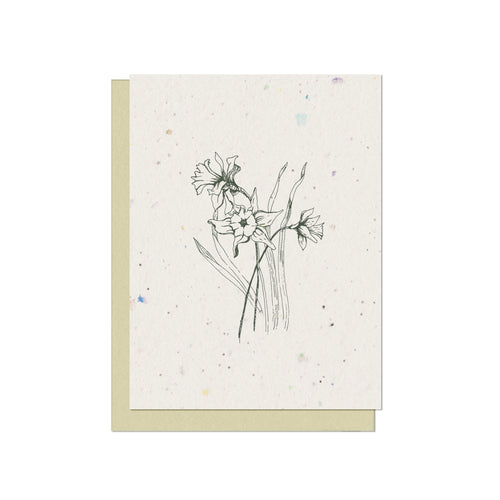 Daffodil Plantable Blank Card