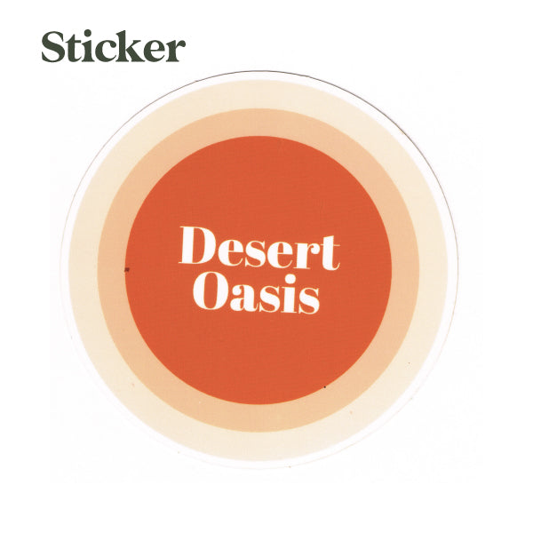 Desert Oasis Circle Sticker