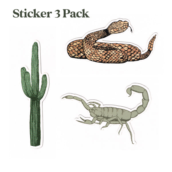 Desert 3 Pack Stickers
