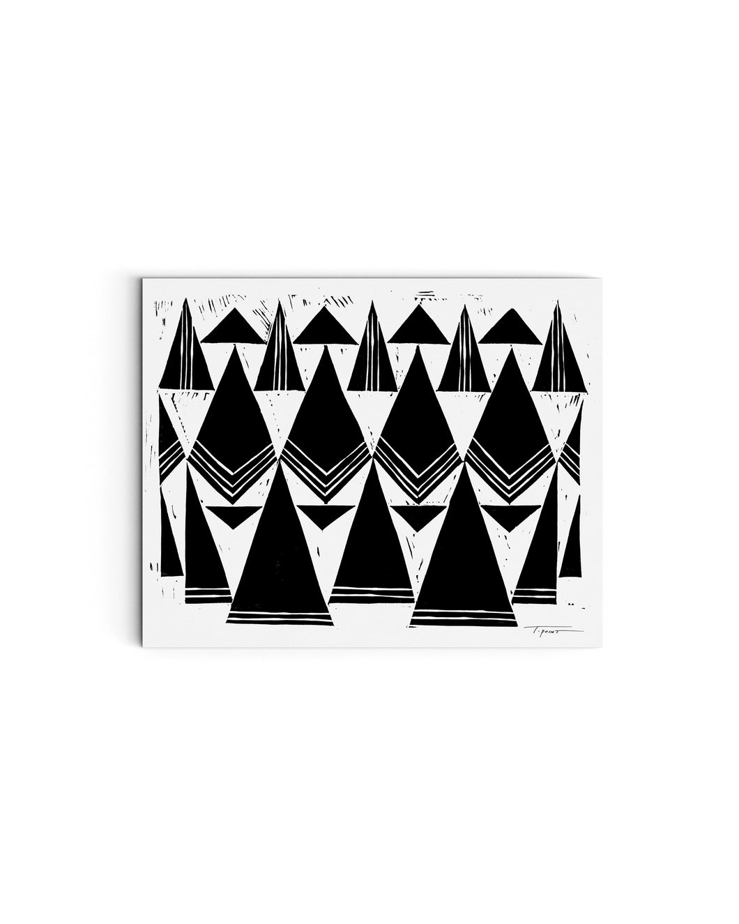 Triangles that Repeat | Block Print