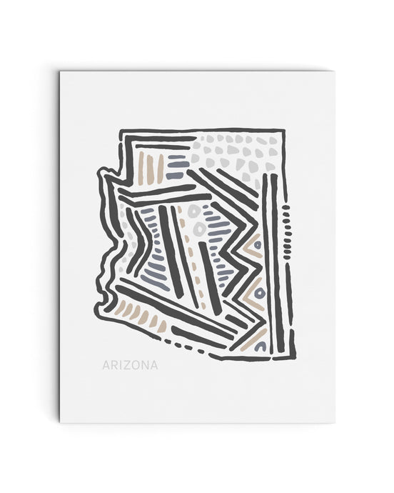 Arizona State | Map Art Print | SI-AZ