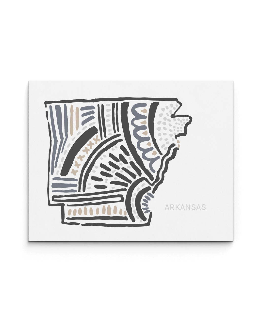 Arkansas State Map Art Print | SI-AR