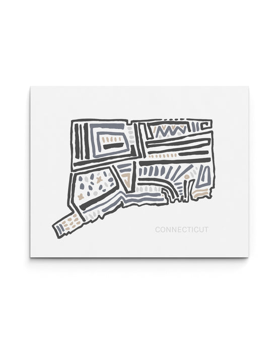Connecticut State | Map Art Print | SI-CT