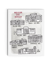 Drill Field Buildings - Mississippi State University Illustration