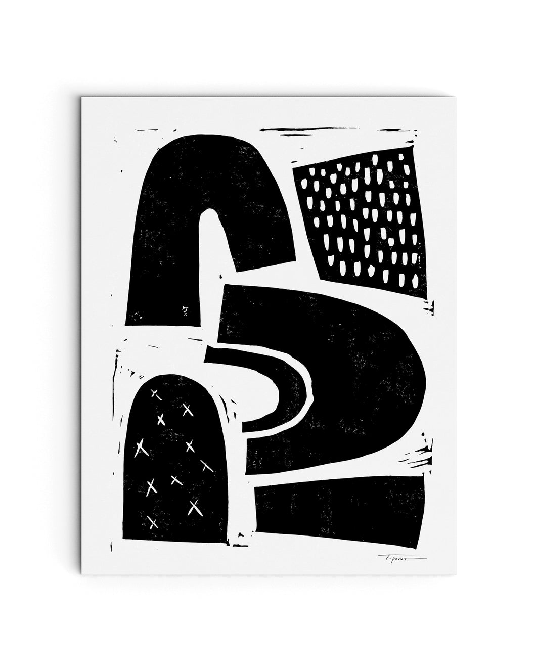 Floating Shapes | Block Print