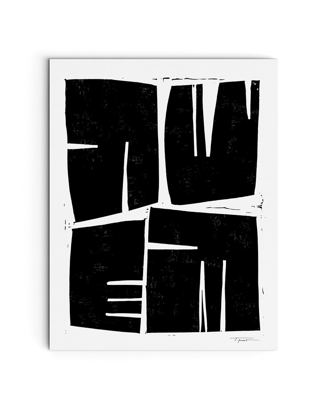 Four Modern Shapes | Block Print