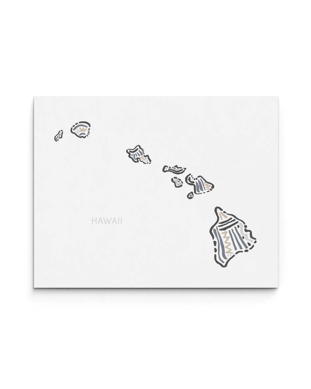 Hawaii State | Map Art Print | SI-HI