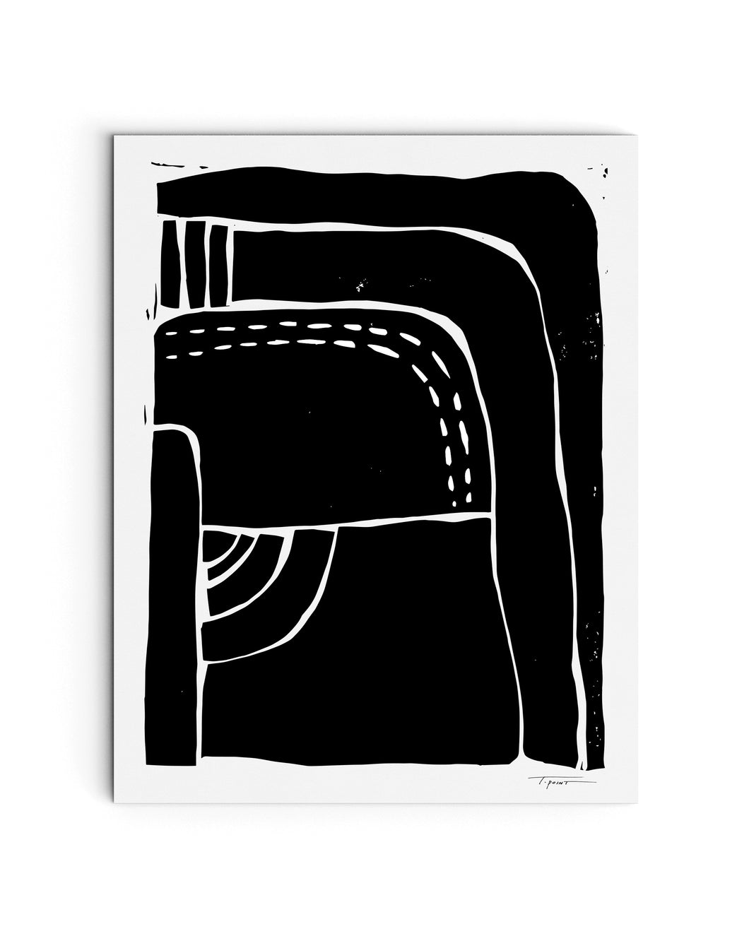 Heavy Minimalist Shapes | Block Print