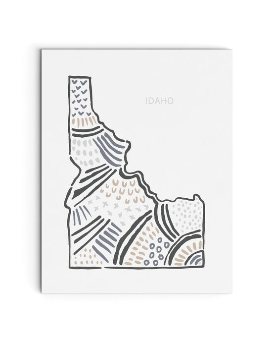 Idaho State Map Art Print | SI-ID