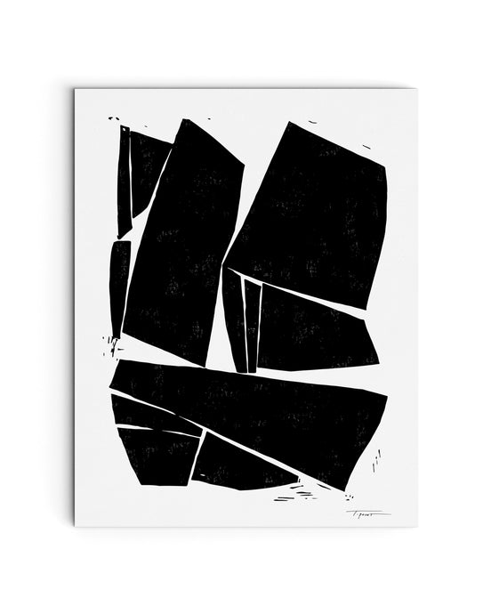 Large Modern Contemporary Forms | Block Print