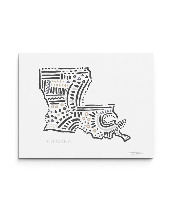 Louisiana State | Map Art Print | SI-LA