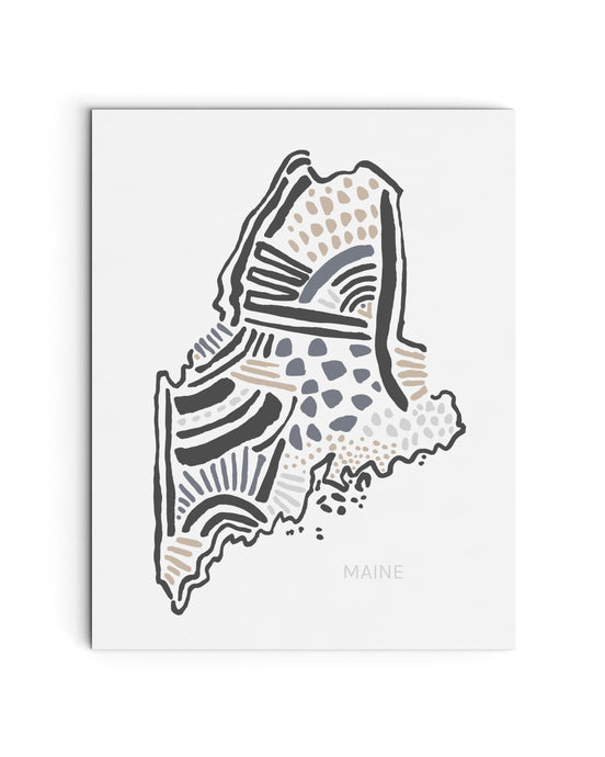 Maine State Map Art Print | SI-ME
