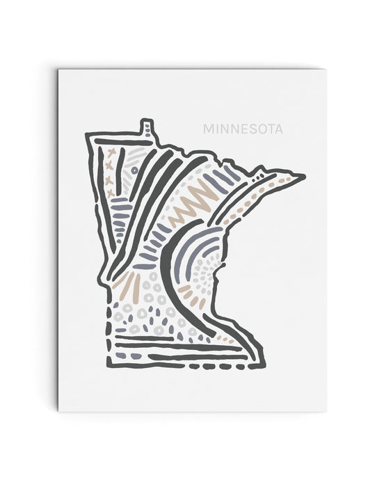 Minnesota State | Map Art Print | SI-MN