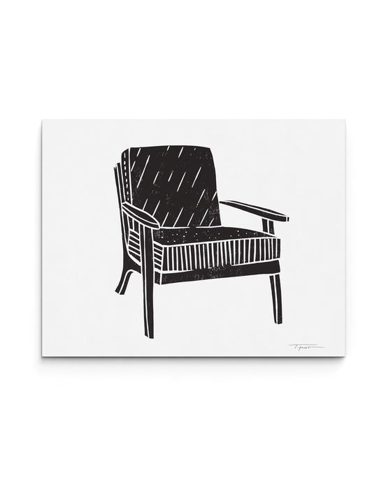 Modern Chair with Stripes | Block Print