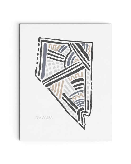 Nevada State | Map Art Print | SI-NV
