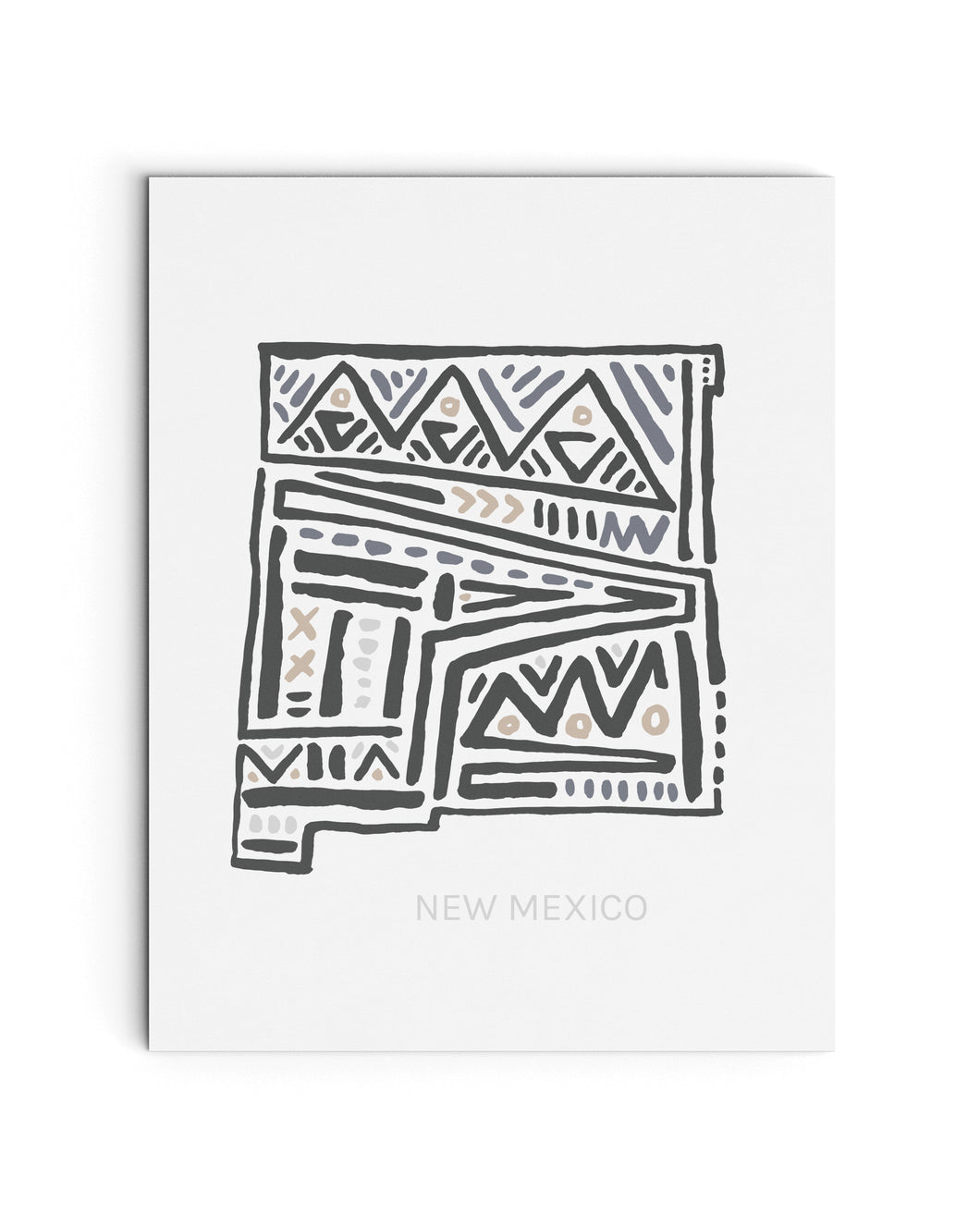 New Mexico State Map Art Print | SI-NM